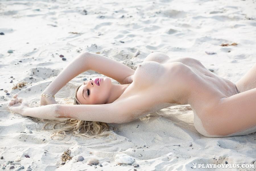 Hot Blonde Girl Khloë Terae on the Beach