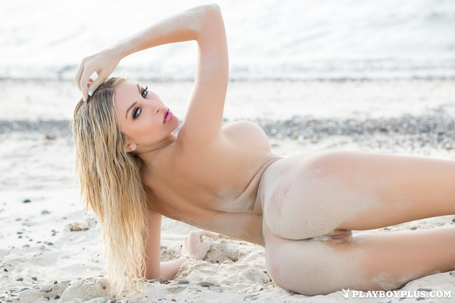 Hot Blonde Girl Khloë Terae on the Beach