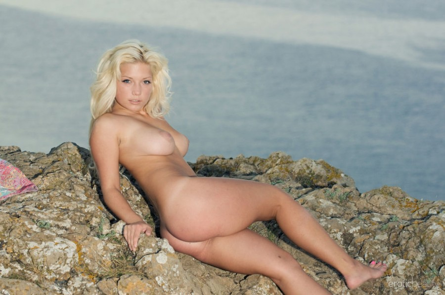 Naughty Blonde Melissa A in Waterfront 2 by Max Asolo