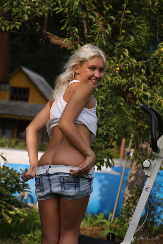 Naughty Blonde Kristy in The Workout by Lobanov